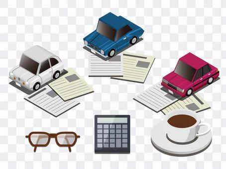 自動車購入時のインフォグラフィック