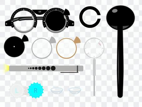 Tool used for visual acuity test