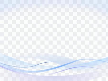 波浪和曲線背景材料藍色藍色系列ver 2