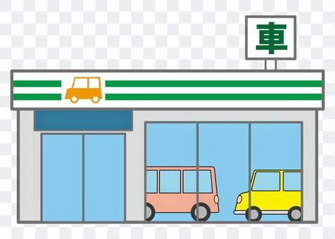 建築物07_01(汽車商店)