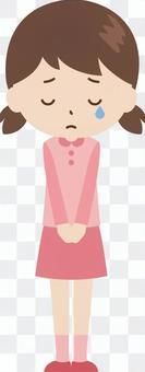 女孩|小學生|衣服|哭泣