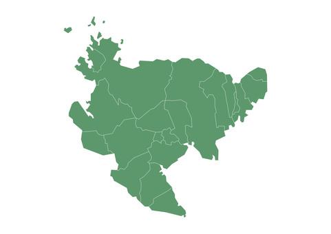 佐賀縣市町村地圖