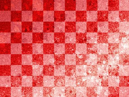 바둑판 무늬 빨간색 호일의 이미지 / 배경 소재