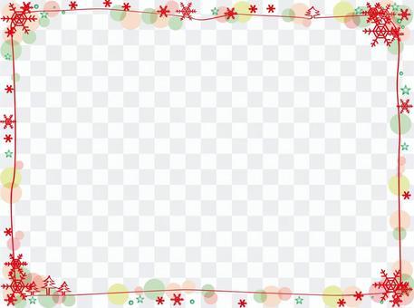 雪水晶框架紅色