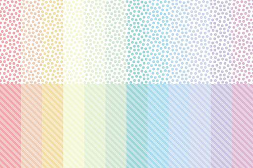 彩虹色的粗糙點和條紋