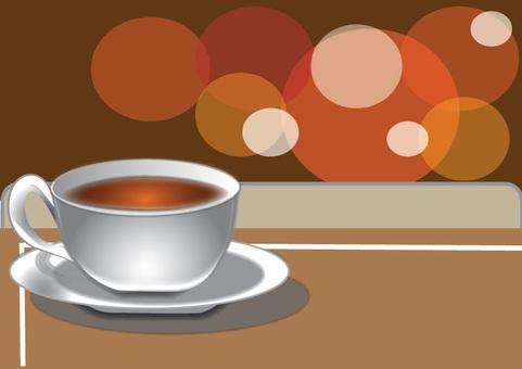 A breath at a coffee shop