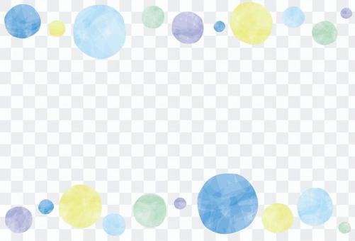 夏天/夏天彩色波爾卡圓點