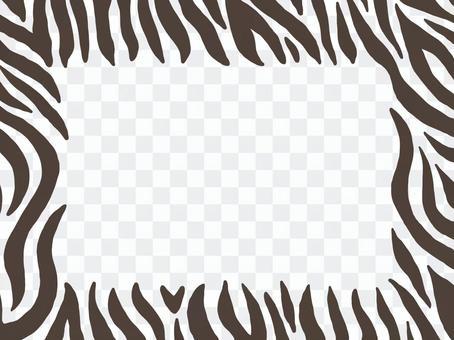 White tiger pattern frame