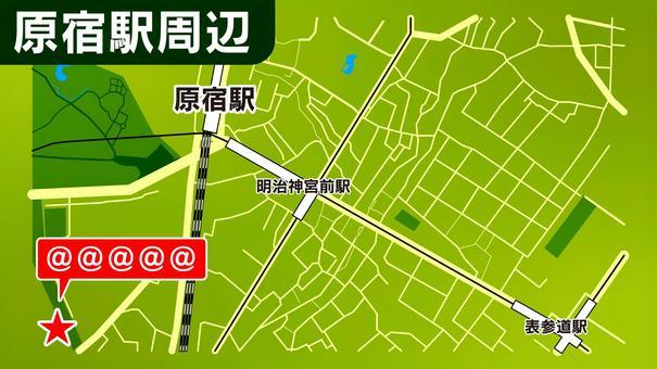 原宿站周邊地圖