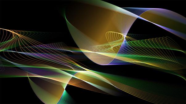 七彩線的抽象矢量設計