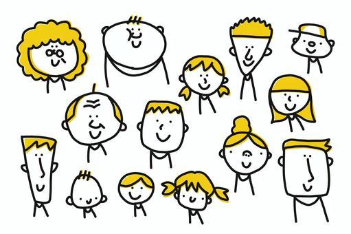 【手寫插圖】人們年齡和年輕人