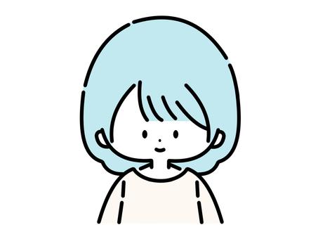 女/前(藍色:02)