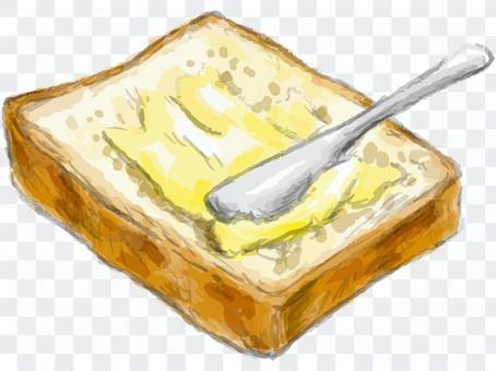 パン トースト マーガリン バター