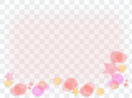 明星和圓形圖案粉紅色的類型