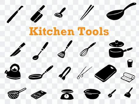 廚房用具圖標集