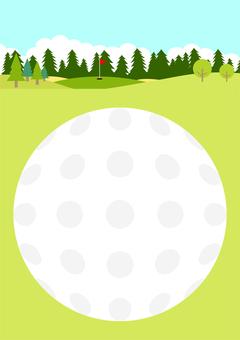 Golf course ball frame