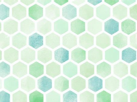 牆紙*水彩風格六邊形斑圖