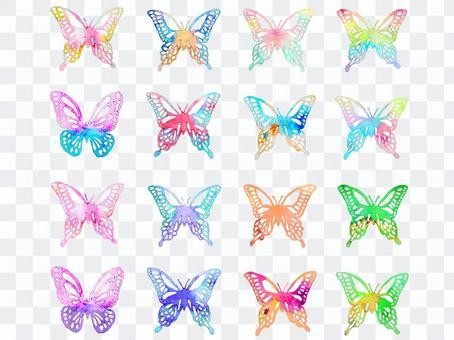 蝴蝶五顏六色