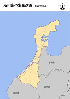 石川縣石川高速公路日本地圖