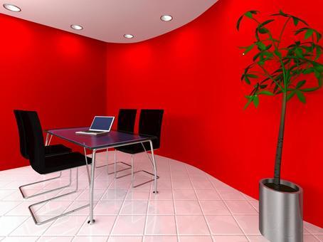 公司會議攤位(紅色)
