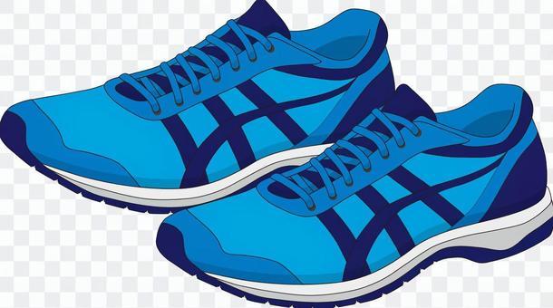 ジョギングシューズ ブルー