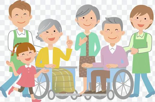 70912. Wheelchair, caregiver 1