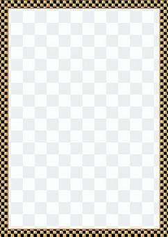 方格圖案(黑金)