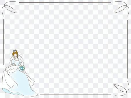 婚紗框架壁紙淺藍色