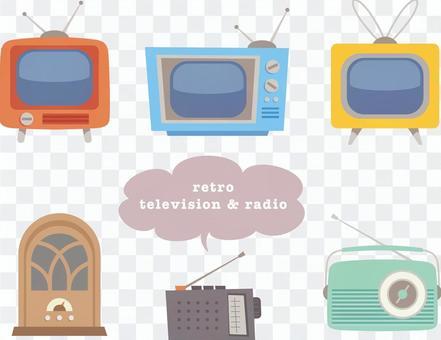 各種複古電視和收音機
