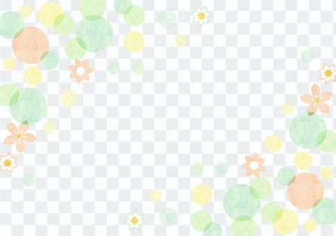 點_綠色_粉彩_框架
