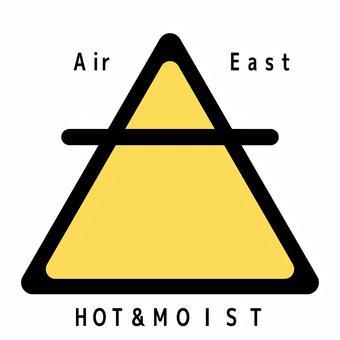 空気 気のエレメントシンボル 文字入り