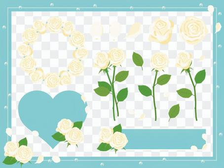 玫瑰套〜白〜
