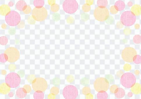 点_粉红色_粉彩_框架