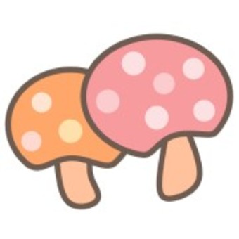 蘑菇 植物 可愛 毒蘑菇 Simple