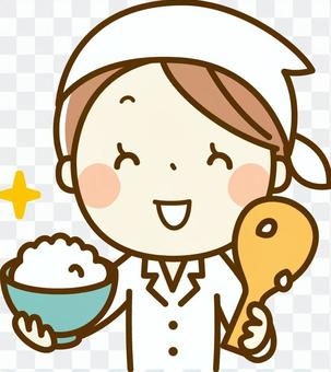 烹飪老師用米飯