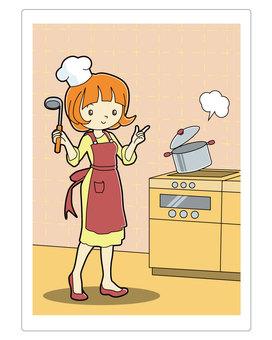烹飪班老師講解