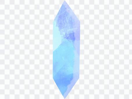 淺藍色水彩水晶切工