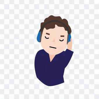 人们听音乐