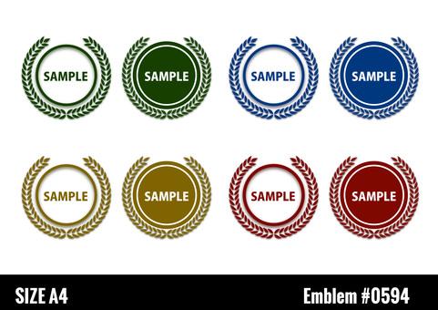 Laurel emblem frameset