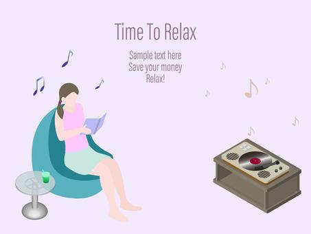 等距音樂閱讀放鬆
