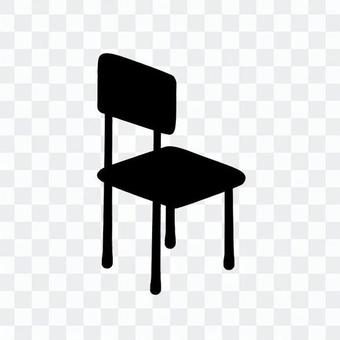 學校椅子(剪影)