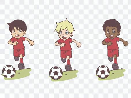 足球男孩三場比賽