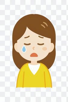 年輕女子_長_哭泣的臉2