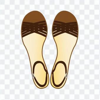 涼鞋(棕色)