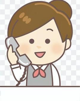 接待女(電話通信)