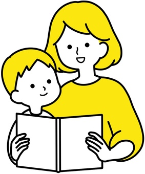 Clean design for mother and child to read aloud