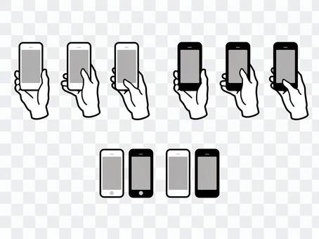 手和手指與智能手機01