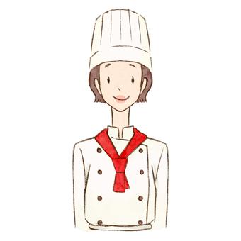 女糕點師正常姿勢