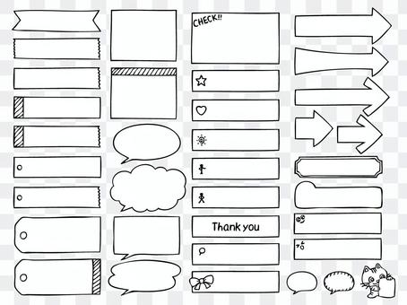 Hand-drawn sticky notes