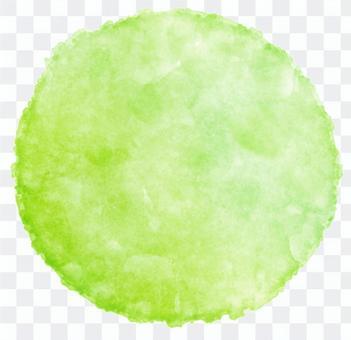 黃綠色的水彩圈